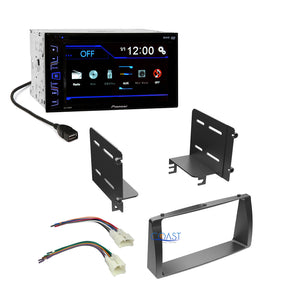 Pioneer Radio Stereo Double Din Dash Kit Harness for 2003-08 Toyota Corolla