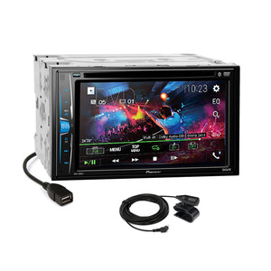 Pioneer 2018 DVD Bluetooth 2Din Dash Kit Harness for 07-13 Mitsubishi Outlander