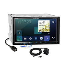 Load image into Gallery viewer, Pioneer Carplay Bluetooth Stereo Silver Dash Kit Harness for Ford Mercury Mazda