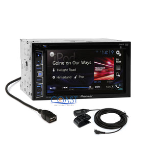 Pioneer Car Stereo Double DIN Dash Kit Harness Antenna for 07-11 Nissan Altima