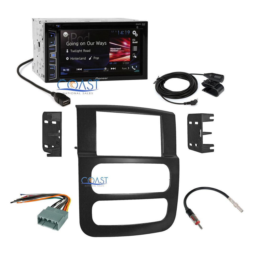 Pioneer 2-DIN Car Radio Stereo Dash Kit Harness for 2002-2005 Dodge Ram Truck