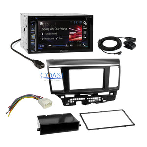 Pioneer 2016 Car Radio Stereo Dash Kit Harness for 2007-13 Mitsubishi Lancer