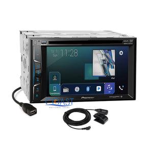 Pioneer 2018 DVD GPS Ready Stereo Silver Dash Kit Harness for Ford Mercury Mazda