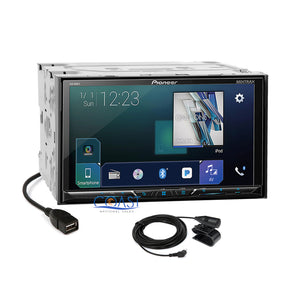Pioneer DVD BT Sirius GPS Ready Stereo Dash Kit Harness for 2003-05 Nissan 350Z