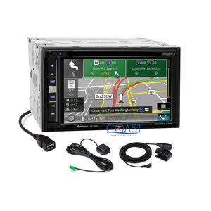 Pioneer GPS Sirius Carplay Stereo Dash Kit Harness for 06-13 Lexus IS250 IS350