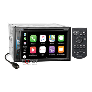 Pioneer 2018 DVD Carplay GPS Stereo Dash Kit Harness for 2010-13 Toyota 4Runner