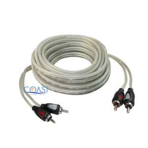 Ultra Flexible Platinum RCA Male to Male Home Car Audio Cable 18 ft. B18PR