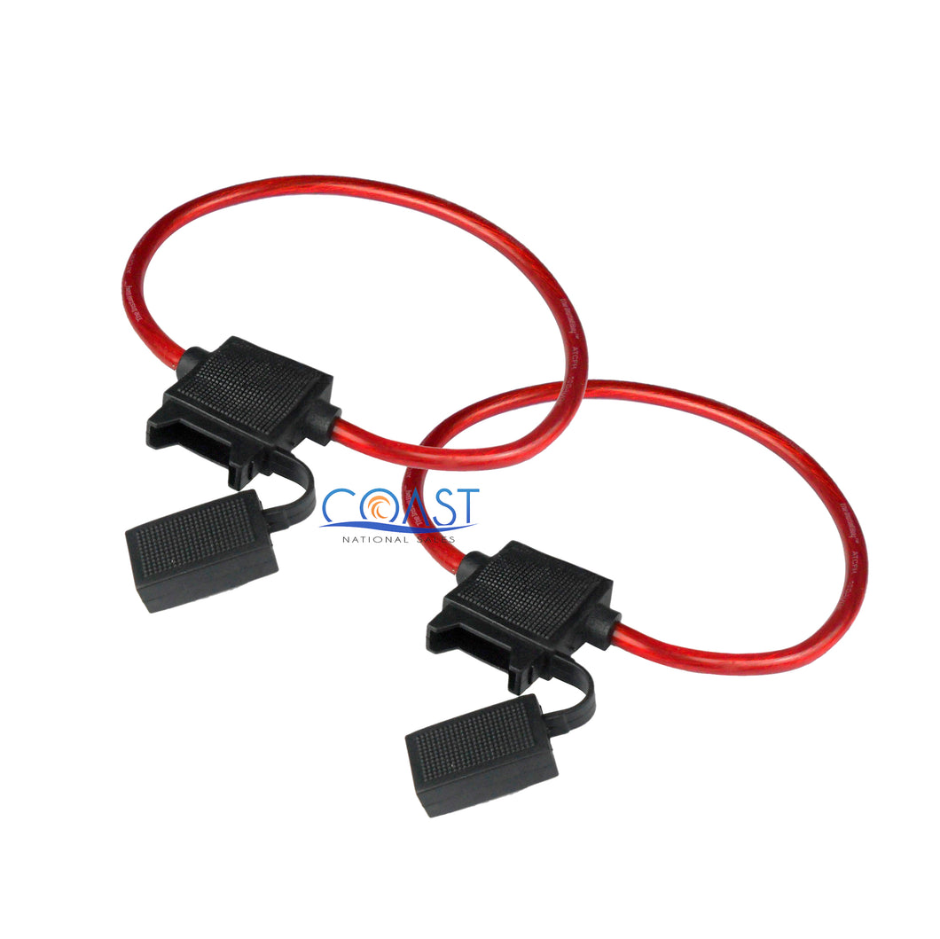 2X Car Truck ATV Boat Marine 8 AWG Gauge CCA In-Line ATC Fuse Holder