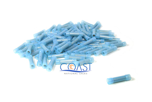 Blue Pro Nylon Butt Connectors 16-14 Gauge AWG BC1614NB - 100 PCS