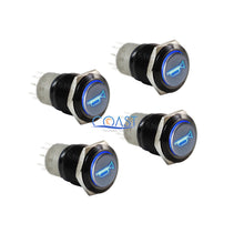 Load image into Gallery viewer, 4X Durable 12V Blue LED 16mm Momentary Car Horn Push Button Toggle Light Switch