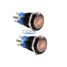 Load image into Gallery viewer, 2X Durable 12V Red LED 19mm Momentary Car Horn Push Button Toggle Light Switch