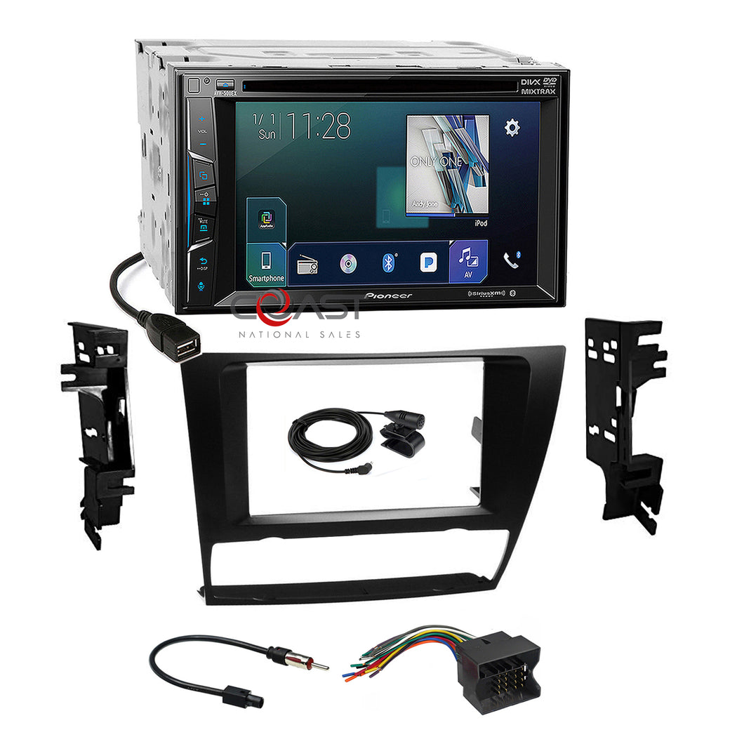 Pioneer DVD Sirius Camera Input Stereo Dash Kit Harness for 06-up BMW 3 Series