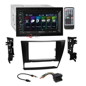 Soundstream DVD BT Camera Input Stereo Dash Kit Harness for 06-up BMW 3 Series