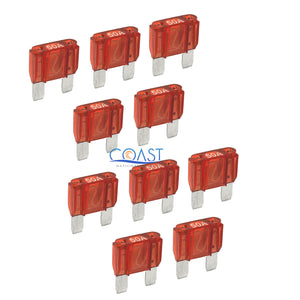 10X High Quality Bullz Audio Car Boat Auto Audio 50 AMP Maxi Fuses - Platinum