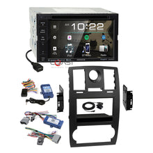 Load image into Gallery viewer, Kenwood DVD Sirius Stereo Blk Dash Kit Amp SWC Harness for 2005-07 Chrysler 300