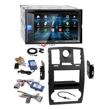 Load image into Gallery viewer, JVC DVD BT Sirius Stereo Black Dash Kit Amp SWC Harness for 05-07 Chrysler 300