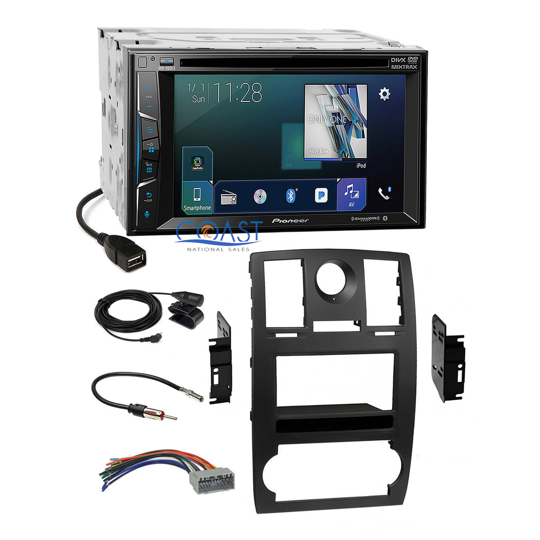 Pioneer DVD Bluetooth Sirius AppRadio Dash Kit Harness for 2005-07 Chrysler 300