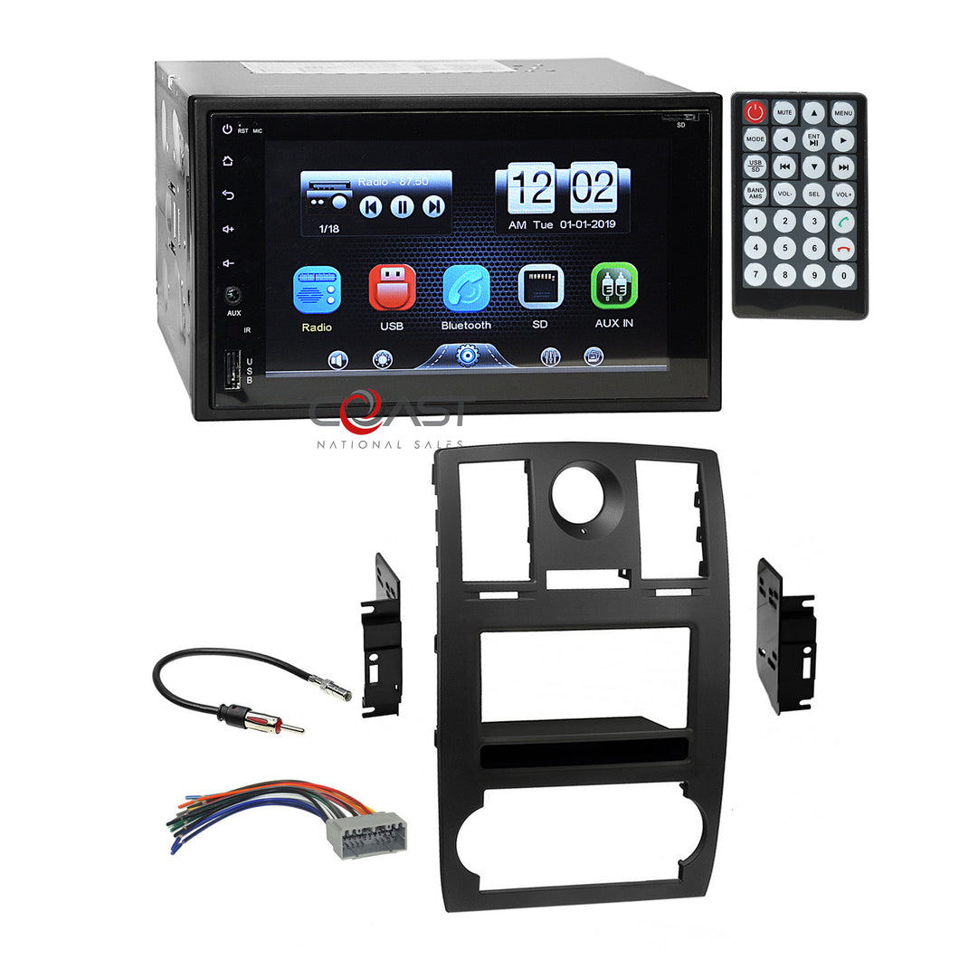 Concept DVD USB Mirrorlink Bluetooth Dash Kit Harness for 2005-07 Chrysler 300