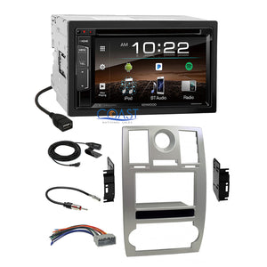 Kenwood DVD Sirius Bluetooth 2Din Sil Dash Kit Harness for 2005-07 Chrysler 300