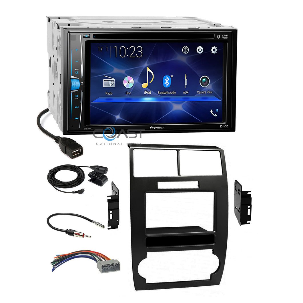 Pioneer 2018 Bluetooth Stereo Dash Kit Harness for 05-07 Dodge Magnum Charger