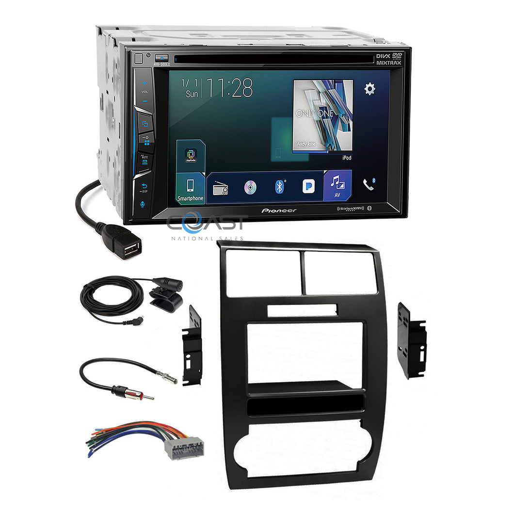 Pioneer 2018 DVD Sirius Stereo Dash Kit Harness for 05-07 Dodge Magnum Charger