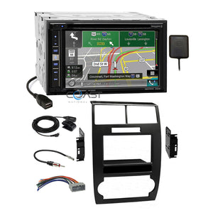Pioneer GPS Carplay Sirius Bluetooth Dash Kit Harness for Dodge Magnum Charger