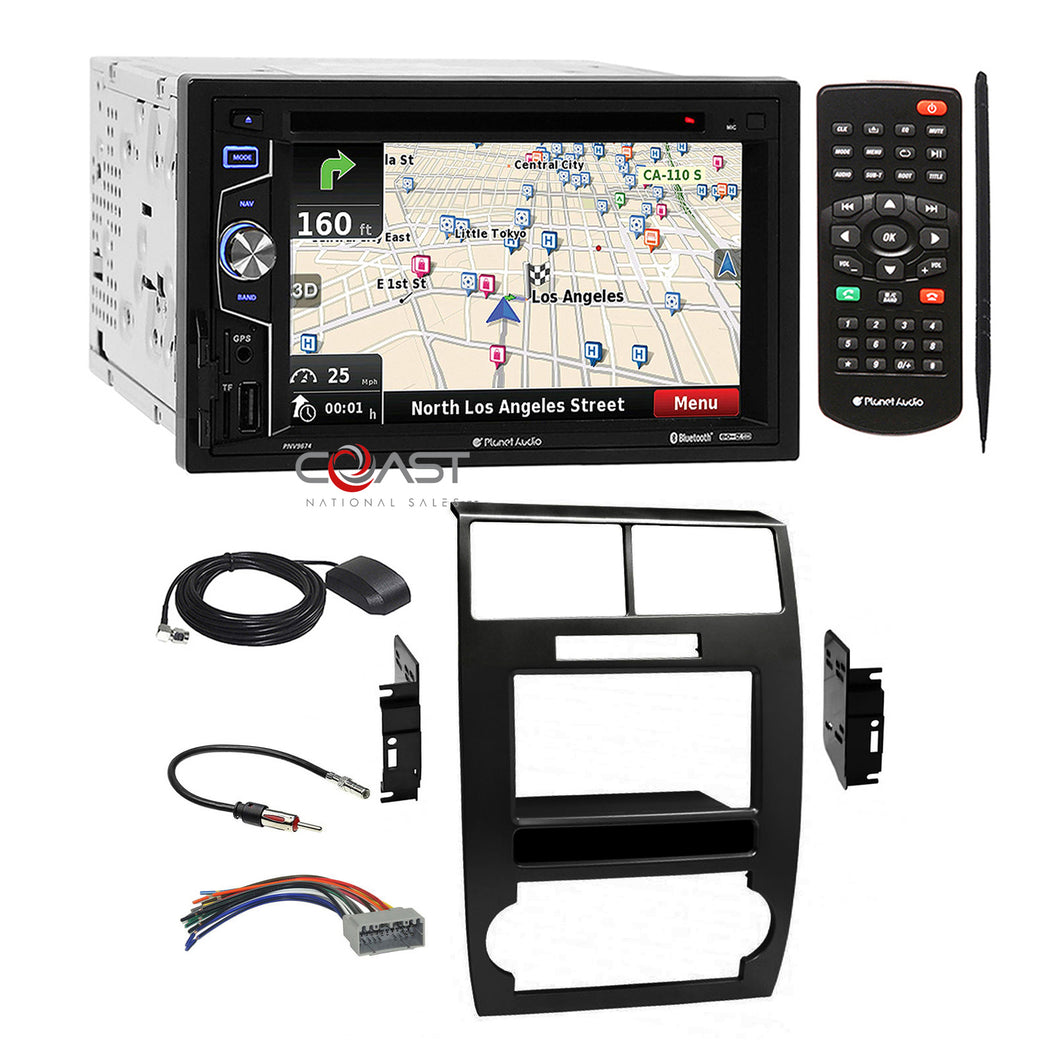 Planet Audio DVD USB GPS Stereo Dash Kit Harness for 05+ Dodge Magnum Charger