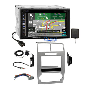Pioneer GPS Carplay SiriusXm  Silver Dash Kit Harness for Dodge Magnum Charger