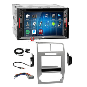JVC 2018 DVD Bluetooth Stereo Silver Dash Kit Harness for Dodge Magnum Charger