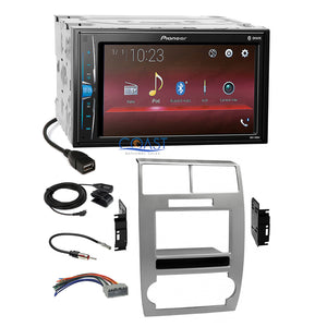 Pioneer USB Multimedia Stereo Silver Dash Kit Harness for Dodge Magnum Charger