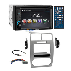 Planet Audio DVD Bluetooth Silver Dash Kit Harness for Dodge Magnum Charger