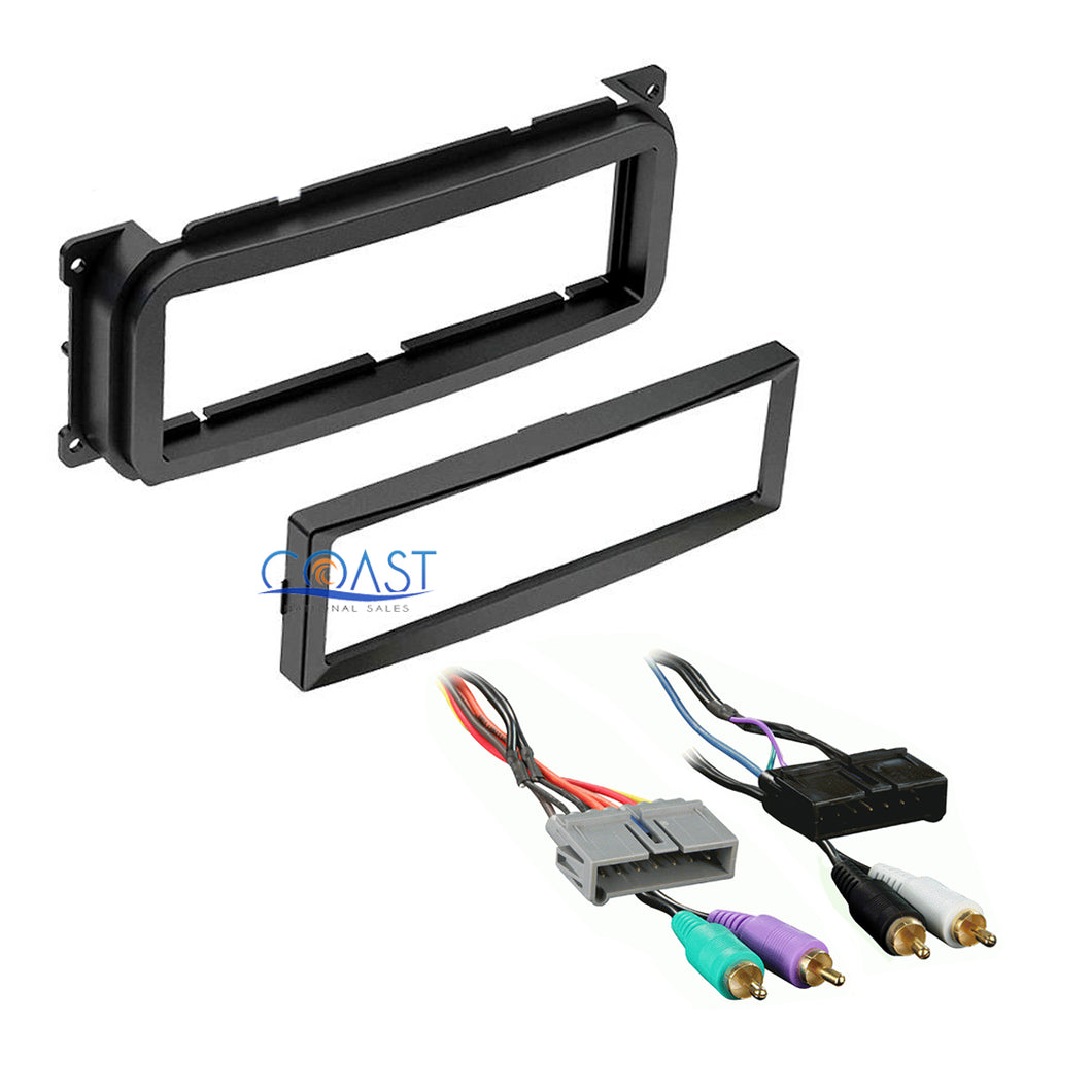 Car Radio Stereo Install Dash Kit Amp Harness for 1998-2010 Chrysler Dodge Jeep