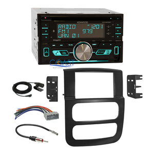 Kenwood 2018 Bluetooth Sirius Radio Dash Kit Harness for 02-05 Dodge Ram Truck
