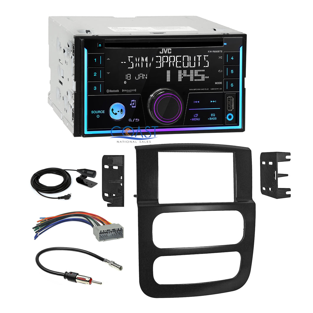 JVC CD Sirius Ready Bluetooth Stereo Dash Kit Wire Harness for 02-05 Dodge Ram