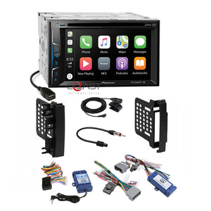 Pioneer DVD BT Carplay Stereo Dash Kit Amp SWC Harness for Chrysler Dodge Jeep