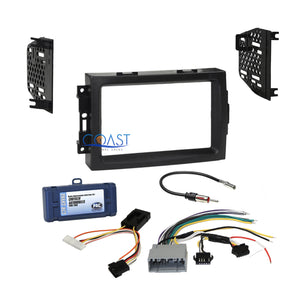 Car Radio Stereo Dash Kit Non-Amplified Interface for 04-08 Chrysler Dodge Jeep