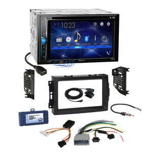 Pioneer 2018 DVD Stereo Dash Kit Non-Amp Harness for 04-08 Chrysler Dodge Jeep