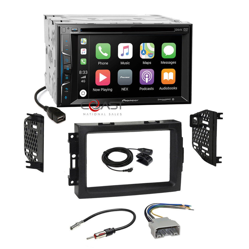 Pioneer DVD USB Carplay Stereo Dash Kit Harness for 2004-08 Chrysler Dodge Jeep