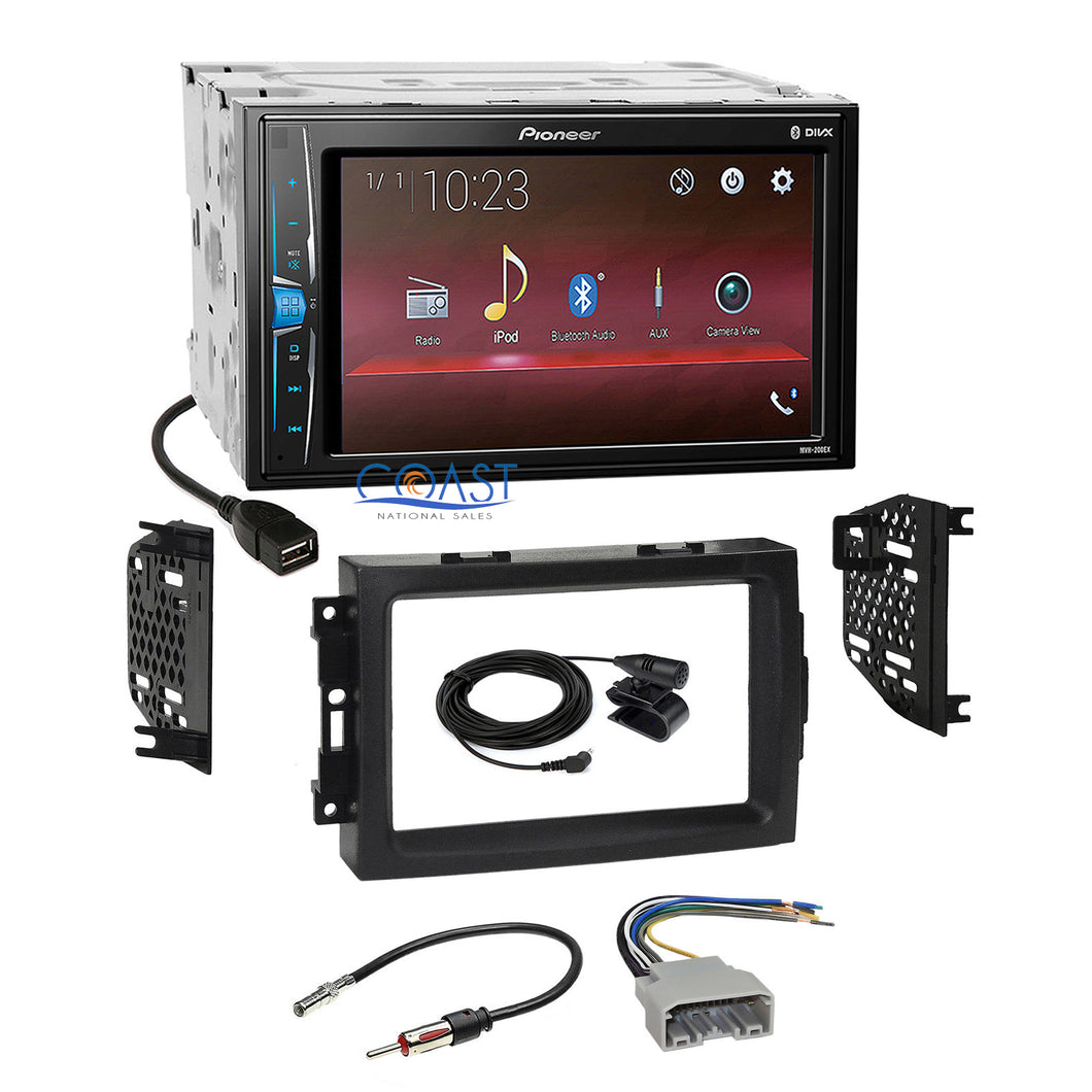 Pioneer 2018 Multimedia Stereo Dash Kit Harness for 2004-08 Chrysler Dodge Jeep