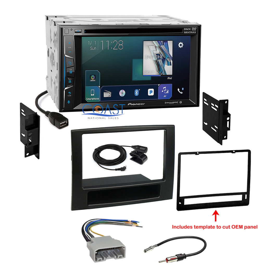 Pioneer Bluetooth Sirius AppRadio Stereo Dash Kit Harness for 06-08 Dodge Ram