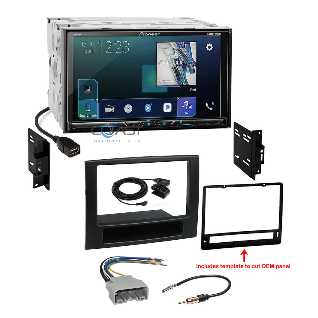 Pioneer 2018 DVD Sirius GPS Ready Stereo Dash Kit Harness for 06-08 Dodge Ram
