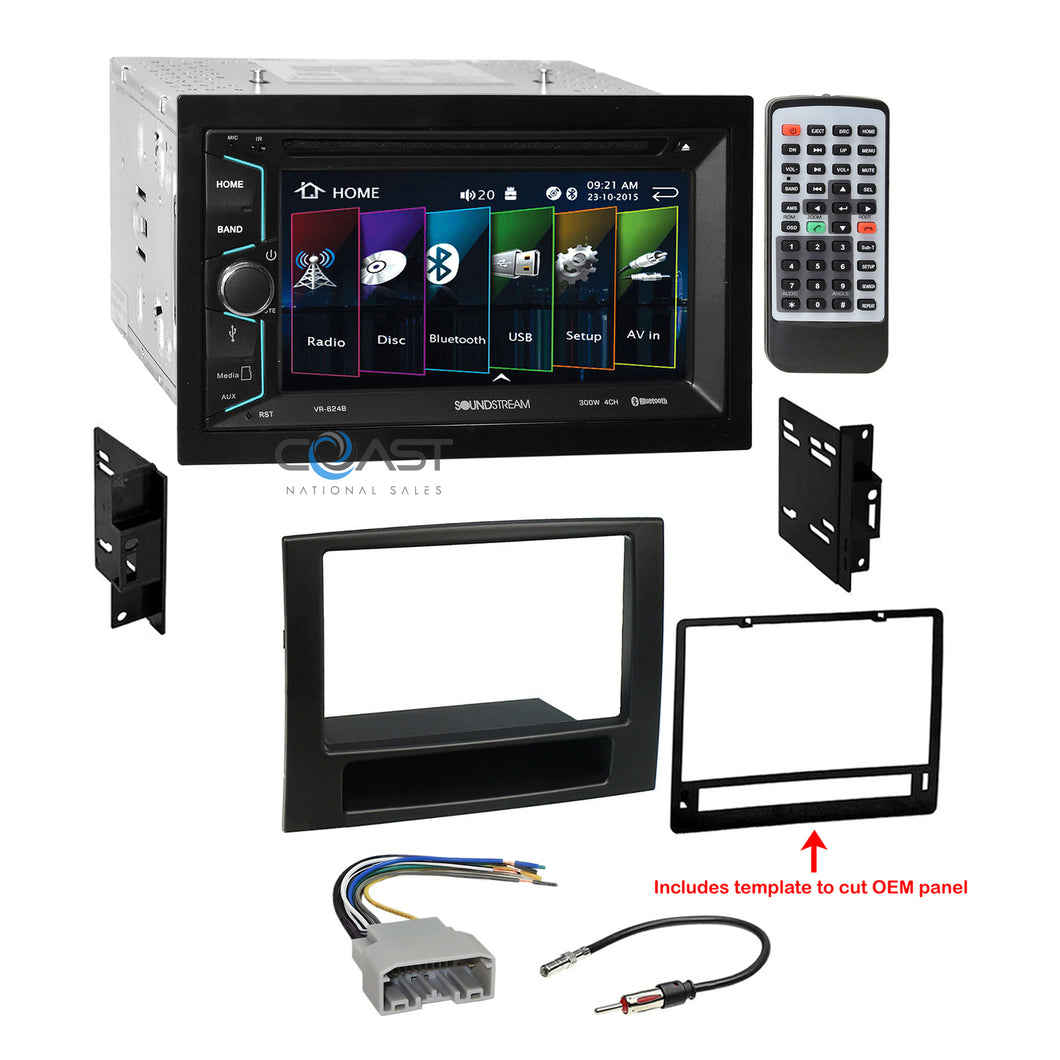 Soundstream 2018 DVD Bluetooth Stereo Dash Kit Harness for 2006-08 Dodge Ram