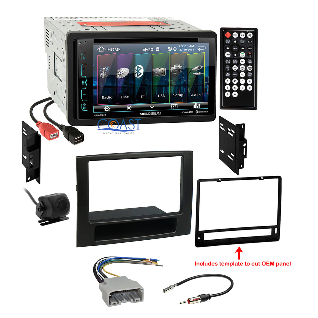Soundstream DVD USB Bluetooth 2Din Stereo Dash Kit Harness for 06-08 Dodge Ram