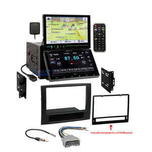 Soundstream 2 Screen GPS Bluetooth Stereo Dash Kit Harness for 06-08 Dodge Ram