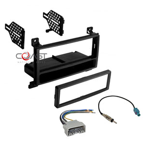 Car Single Din Radio Dash Kit Harness Antenna for Select 2011-13 Dodge Jeep
