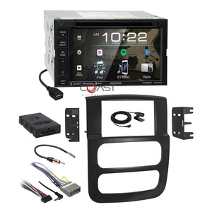Kenwood DVD BT Sirius Stereo Dash Kit Amp Harness for 2002-05 Dodge Ram Trucks