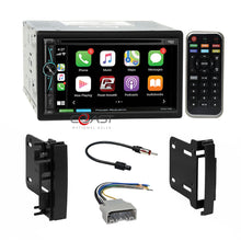 Load image into Gallery viewer, Power Acoustik DVD BT Carplay Stereo Dash Kit Harness for Chrysler Dodge Jeep
