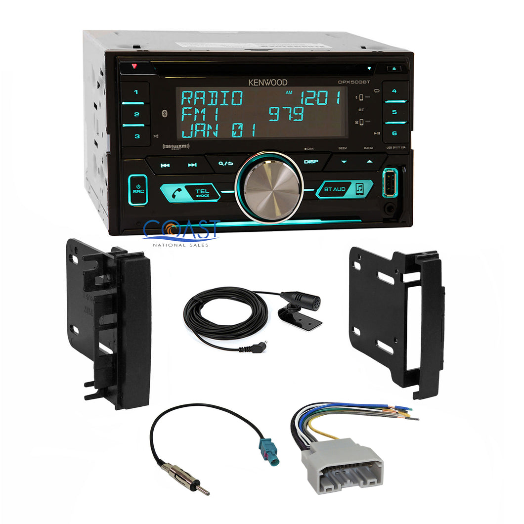 Kenwood SiriusXm Bluetooth Stereo Dash Kit Harness for 07+ Chrysler Dodge Jeep