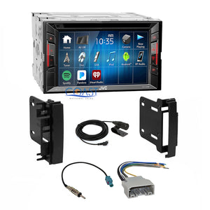 JVC DVD USB Bluetooth Stereo Dash Kit Harness for 2007-2014 Chrysler Dodge Jeep