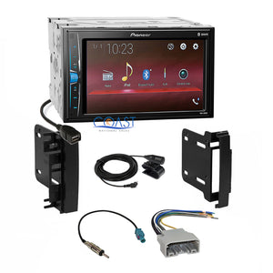 Pioneer 2018 Multimedia Stereo Dash Kit Harness for 2007-14 Chrysler Dodge Jeep